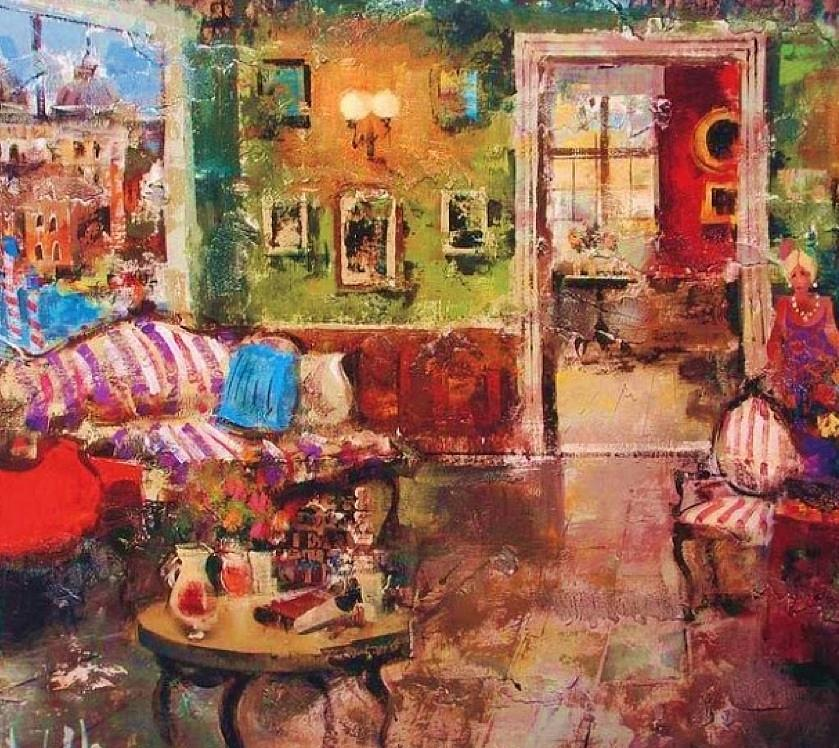 Juego de comedor painting by telemundo pinturas for Pintura para comedor