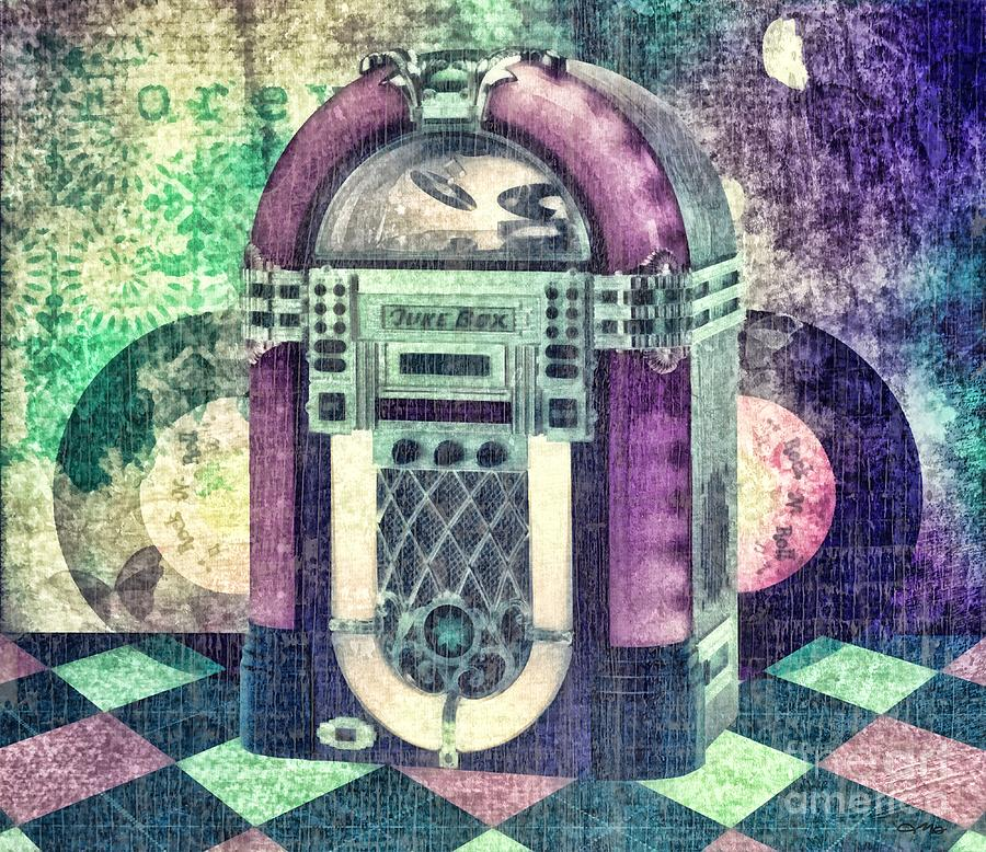 Juke Box Mixed Media  - Juke Box Fine Art Print