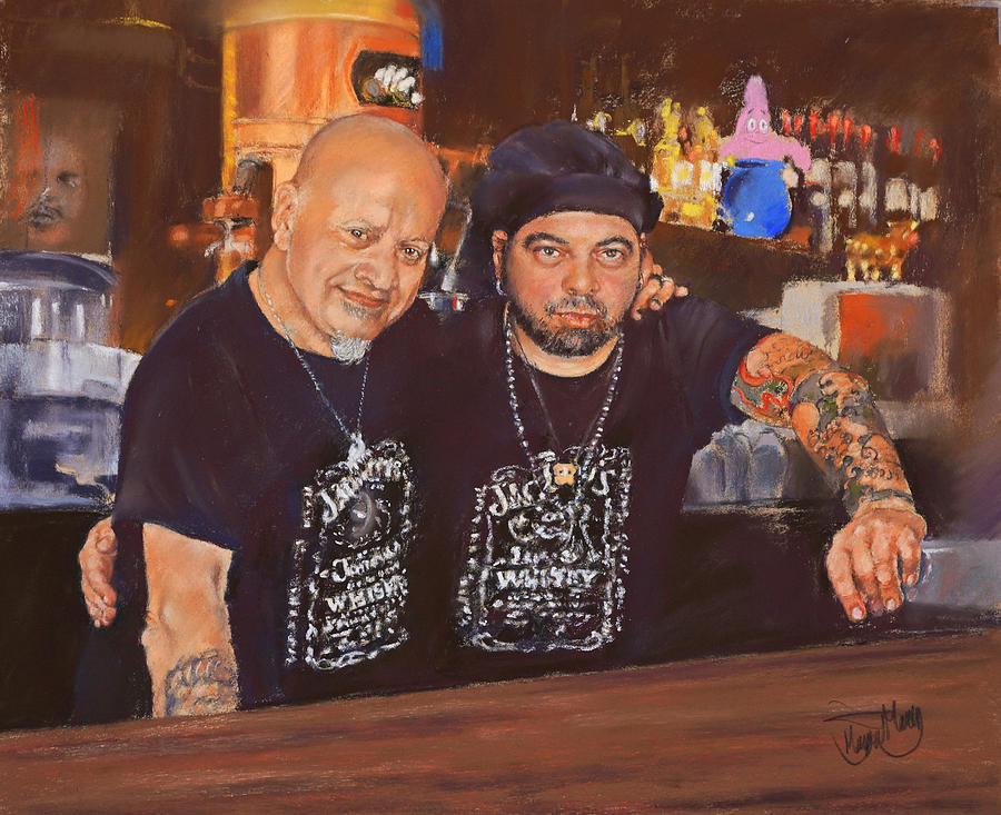 Julio And Miguel Painting  - Julio And Miguel Fine Art Print