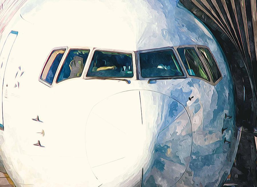 Jumbo Plane Head  Painting