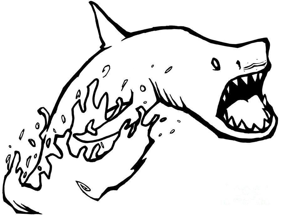 Jumpin Sharks Batman Drawing