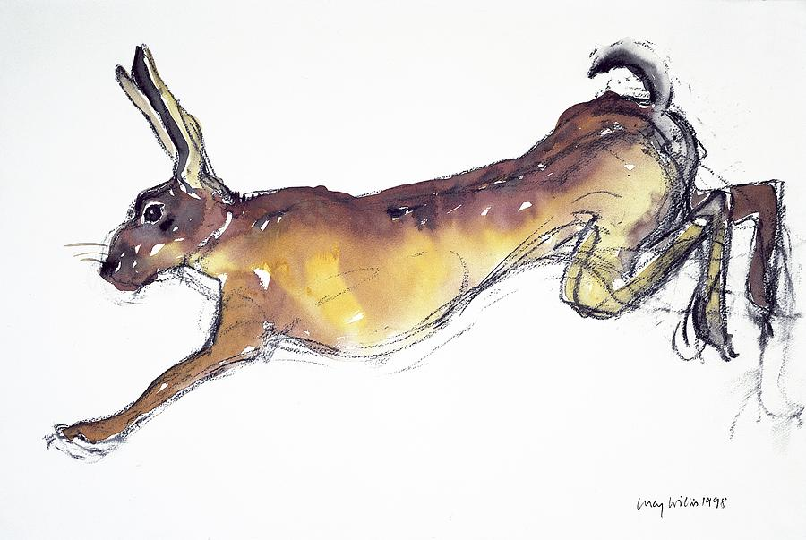 Jumping Hare Painting
