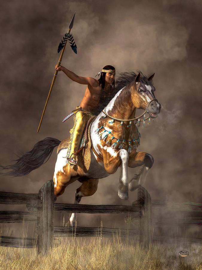 Jumping Mustang Digital Art By Daniel Eskridge
