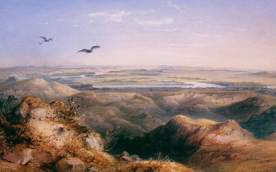 Karl Bodmer Painting - Junction Of The Yellowstone And The Issouri by Karl Bodmer