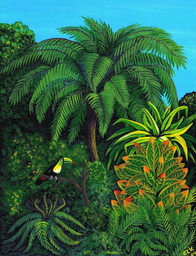 Jungle And Toucan Painting