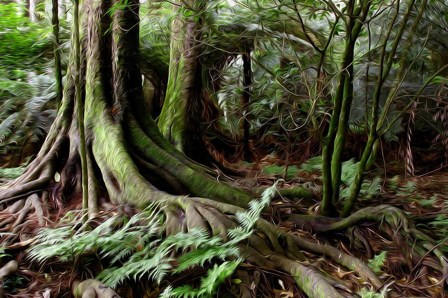 Jungle Trunks3 Digital Art
