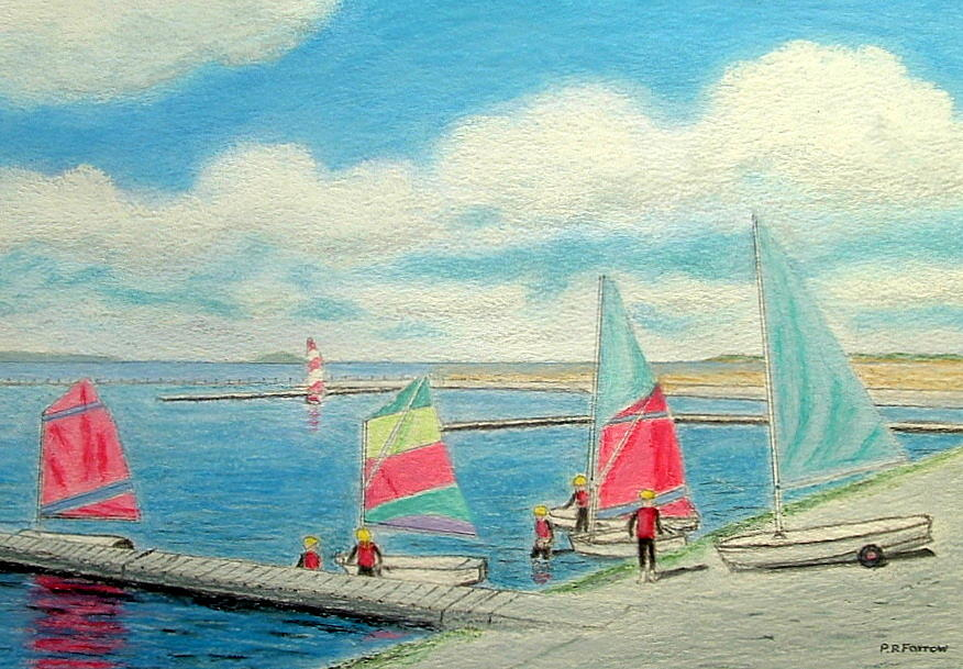 Junior Sailing School - West Kirby Marine Lake  Painting