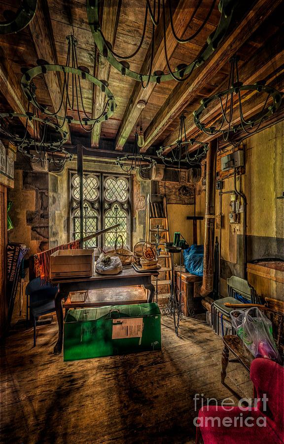 British Photograph - Junk Room by Adrian Evans