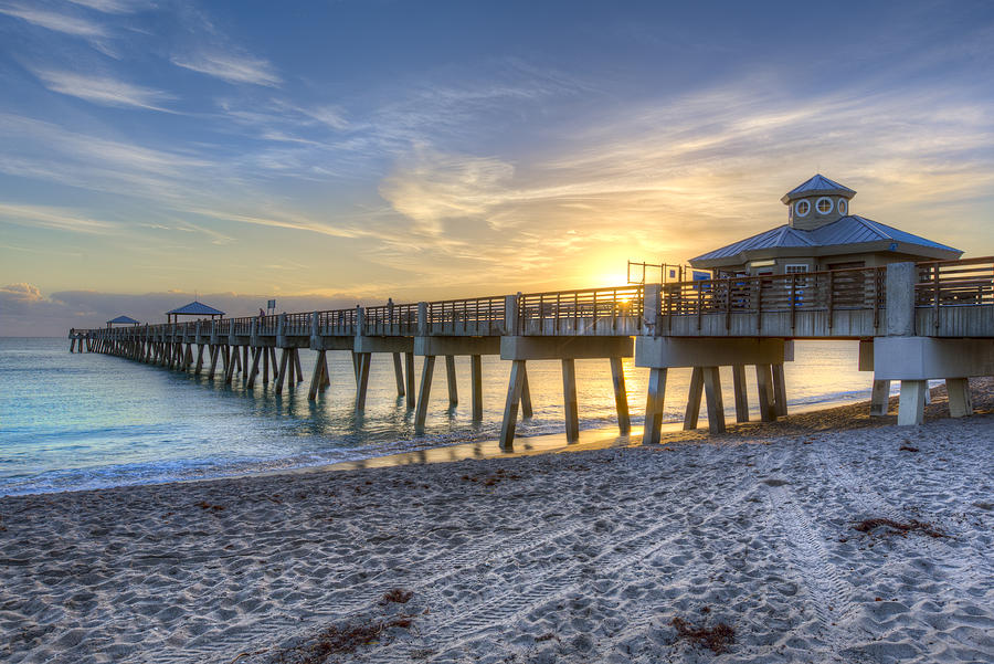 Juno Beach Pier At Dawn Photograph
