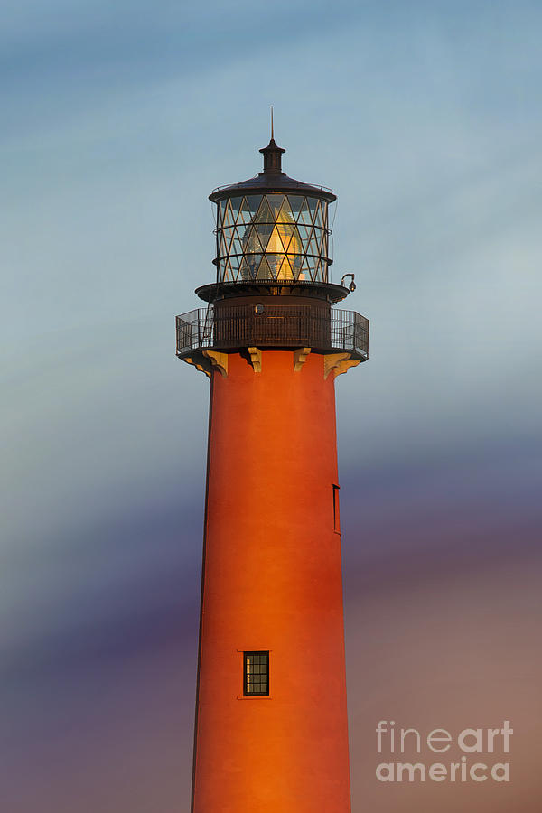 Jupiter Inlet Lighthouse Digital Art  - Jupiter Inlet Lighthouse Fine Art Print
