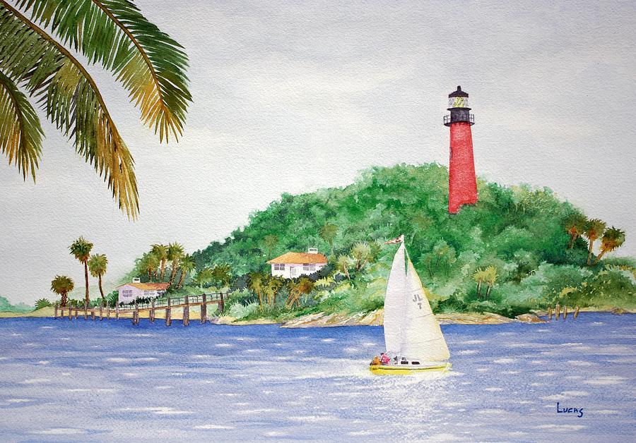 Landscape Painting - Jupiter Inlet Lighthouse by Jeff Lucas