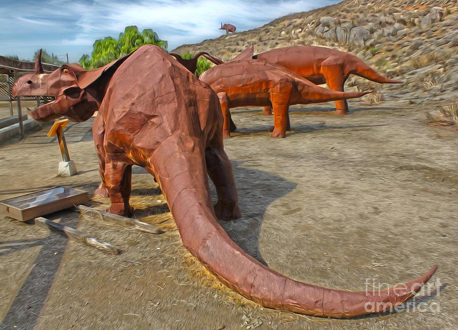 Jurupa Dinosaurs Painting