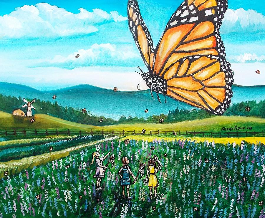Just Another Monarch Monday Painting  - Just Another Monarch Monday Fine Art Print