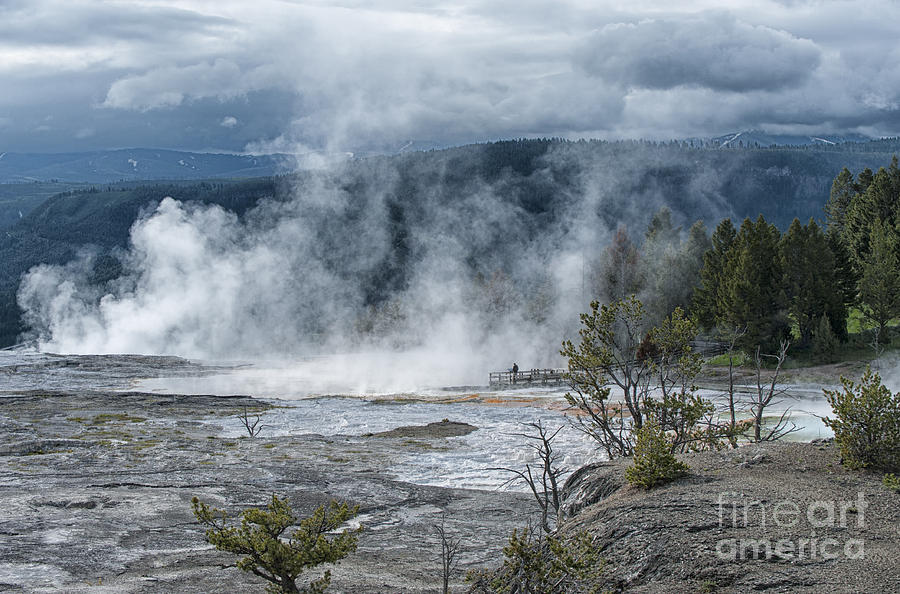 Just Before The Storm - Mammoth Hot Springs Photograph