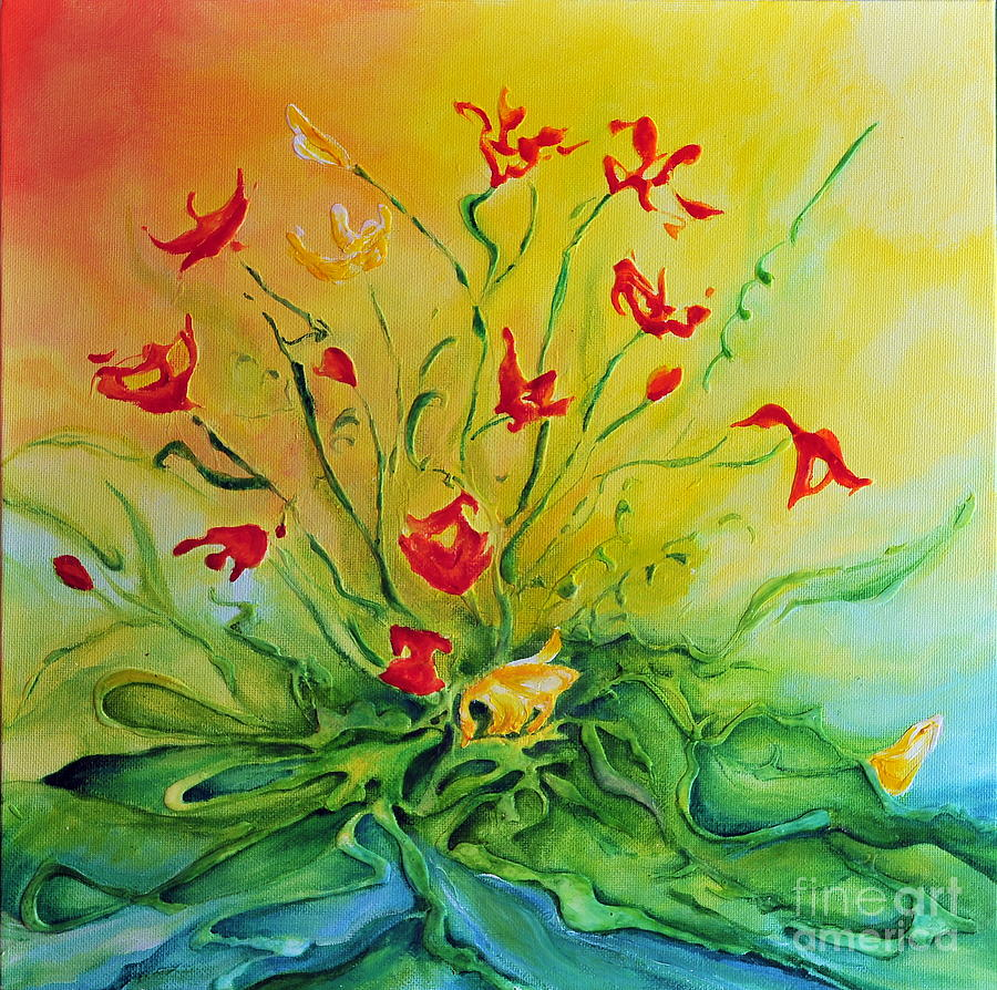 Poppies Painting - Just For You by Teresa Wegrzyn