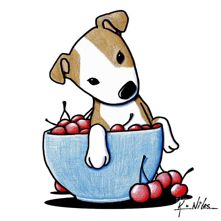 Cherry Bowl Pit Drawing By Kim Niles