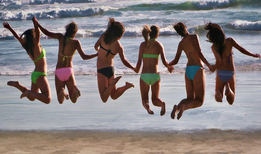 Beach Photograph - Just Jump by Tammy Espino