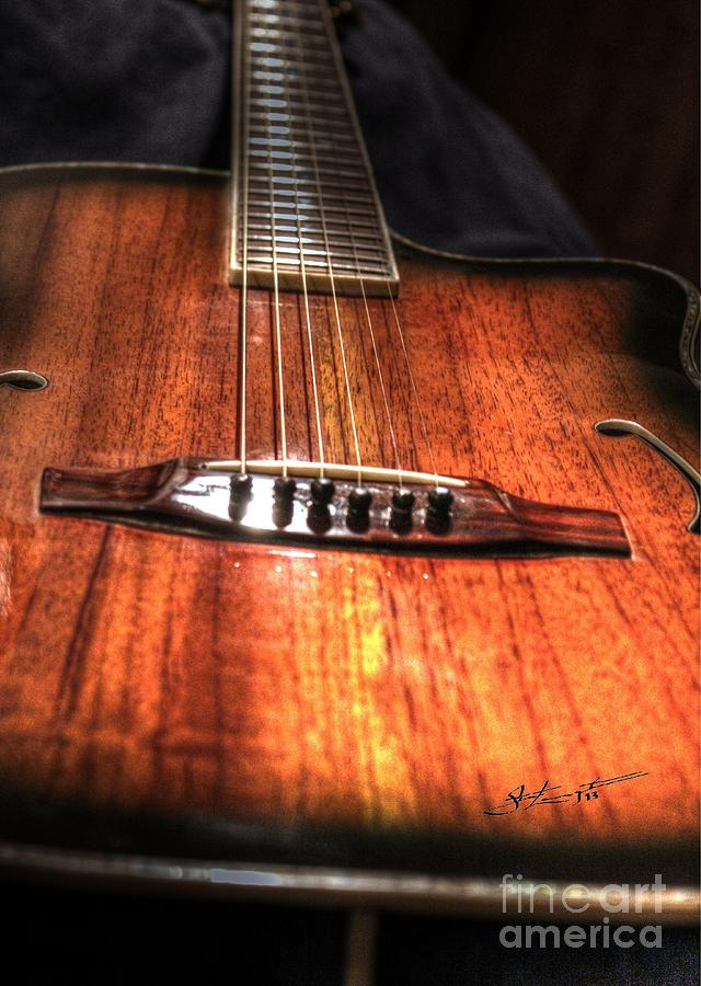 Acoustic Photograph - Just Music Digital Guitar Art By Steven Langston by Steven Lebron Langston