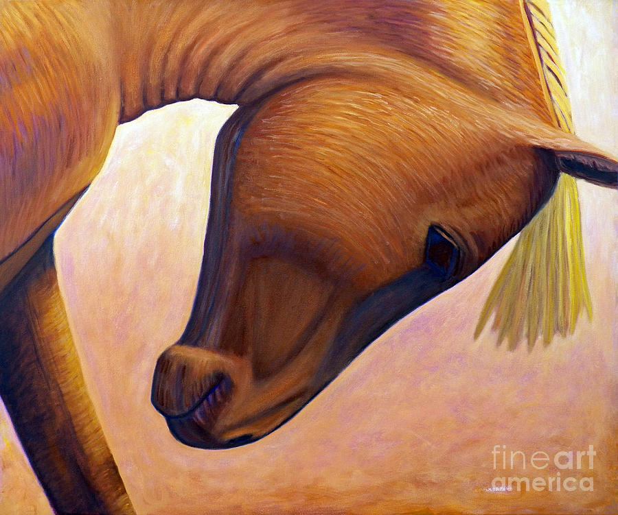 Horse Painting - Just Plain Horse Sense by Brian  Commerford