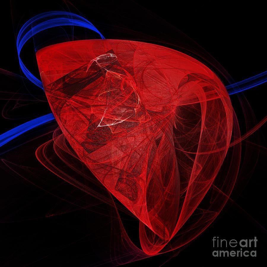 Just The Beat Of My Heart - Human Heart - Abstract - Organ Digital Art