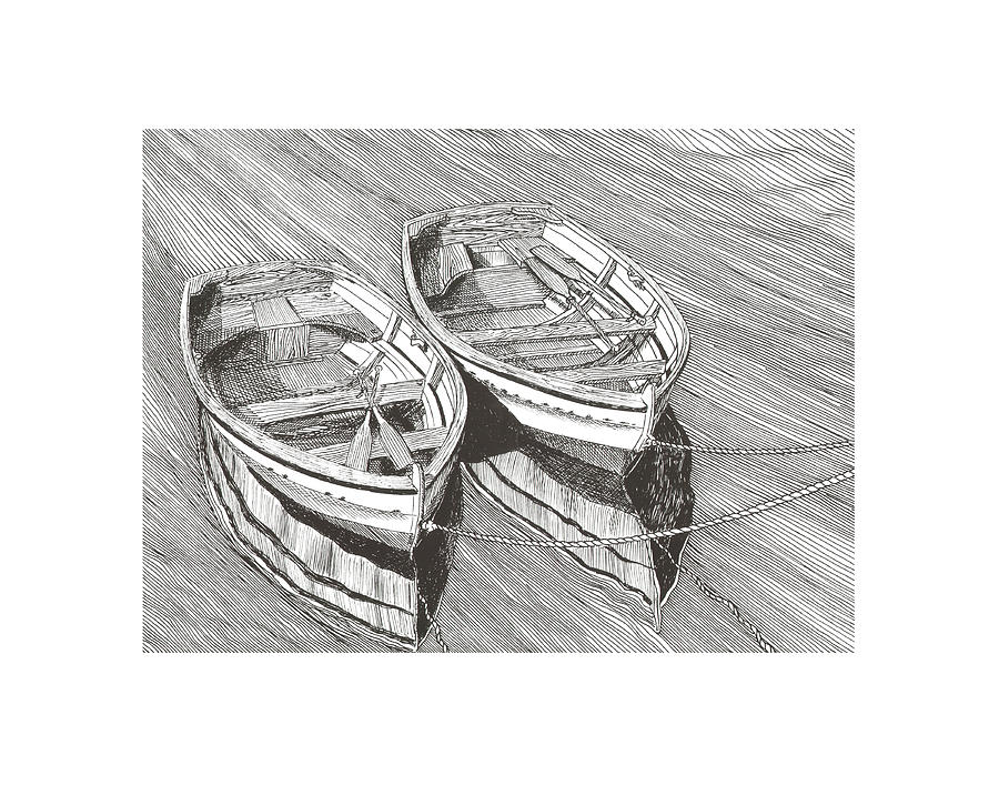 Just The Two Of Us Drawing  - Just The Two Of Us Fine Art Print