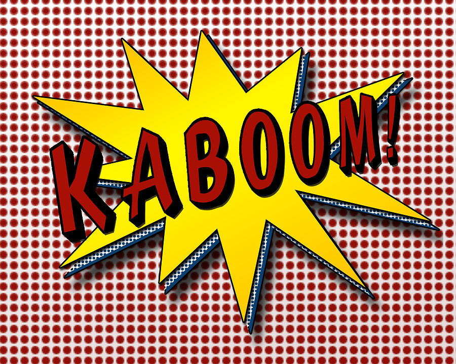 Kaboom Pop Art By Suzanne Barber
