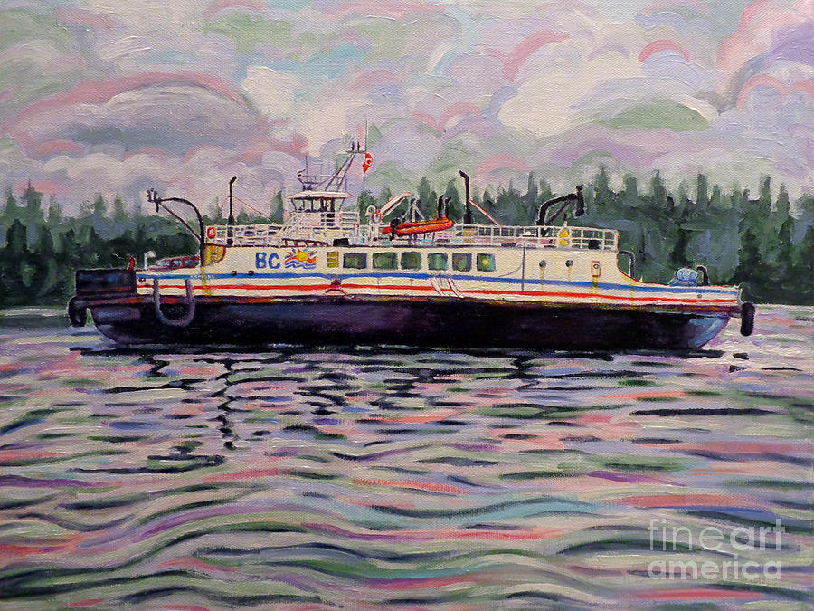 Kahloke The Hornby Ferry Painting  - Kahloke The Hornby Ferry Fine Art Print
