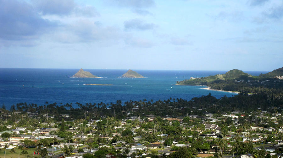 Kailua Town And Bay Photograph