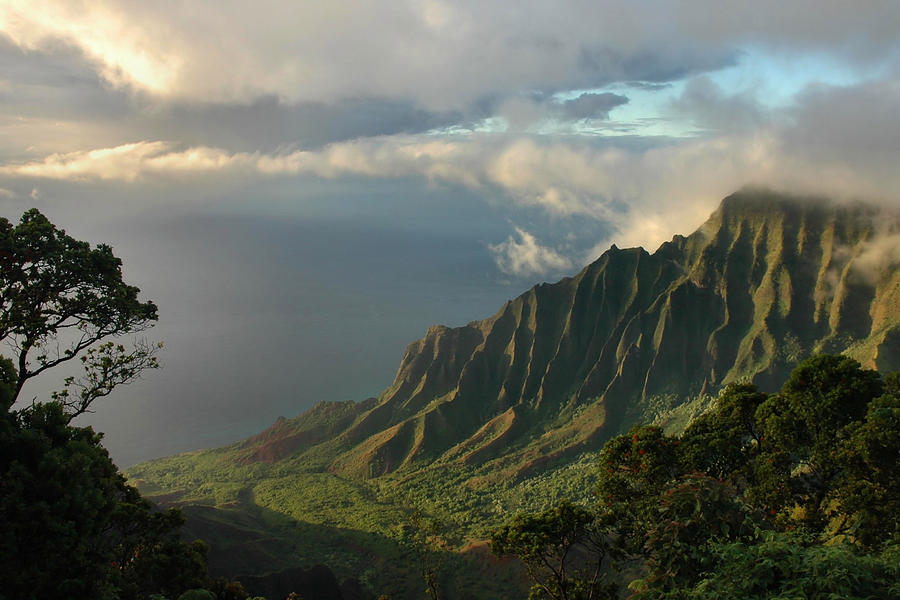 Kauai Wallpapers 54 Images: Kalalau Lookout At Sunset Photograph By Stephen Vecchiotti