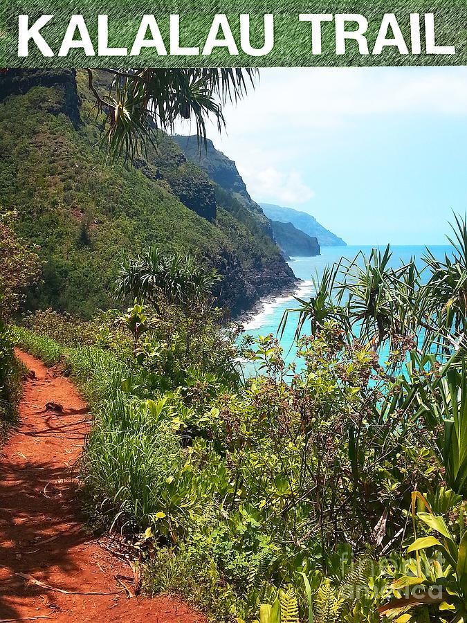 Kalalau Trail Art Print Photograph - Kalalau Trail On Kauai by Joseph J Stevens