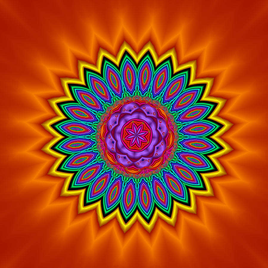 Kaleidoscope 1 Bright And Breezy Digital Art