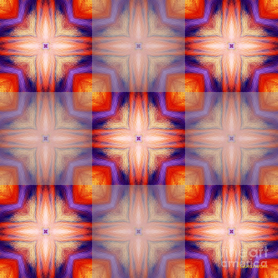 Art Digital Art - Kaleidoscope Combo 5 by Louise Lamirande