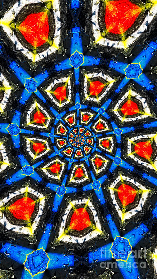 Kaleidoscope Of Primary Colors Photograph