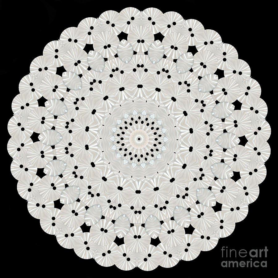 Kaleidoscope Of White Buttons Digital Art