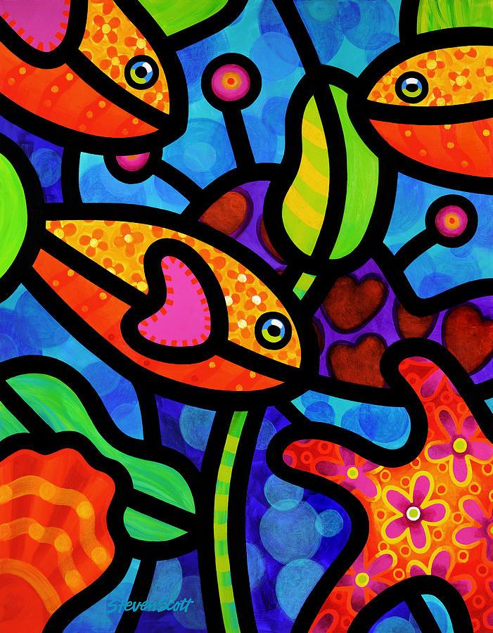 Kaleidoscope Reef Painting