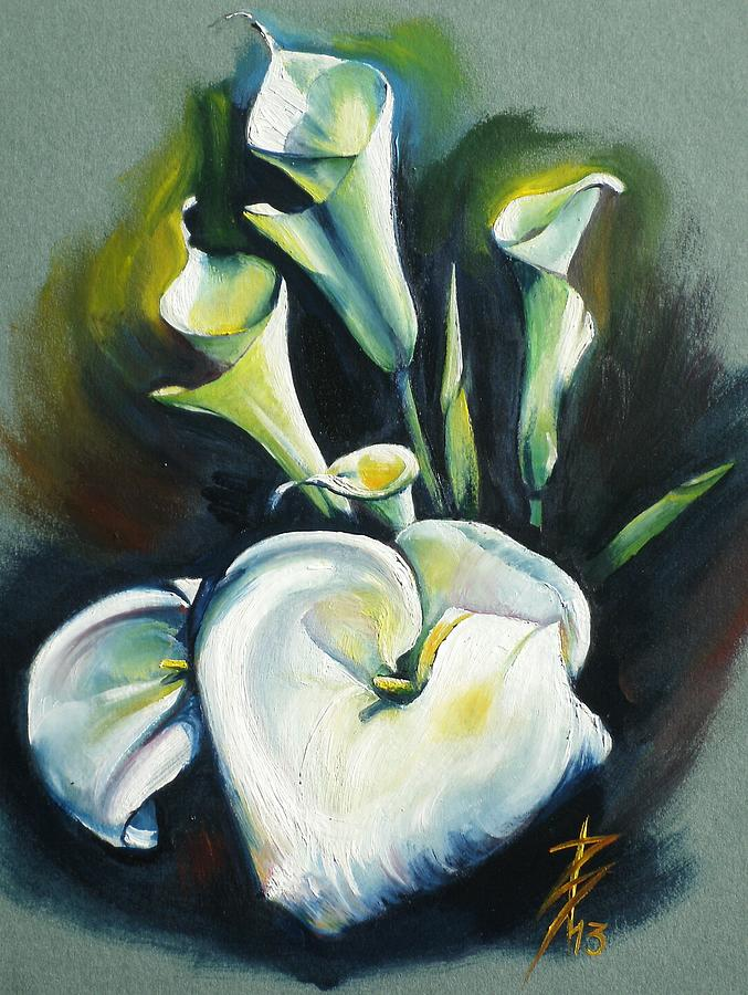 Kalos The Calla Lily Painting  - Kalos The Calla Lily Fine Art Print