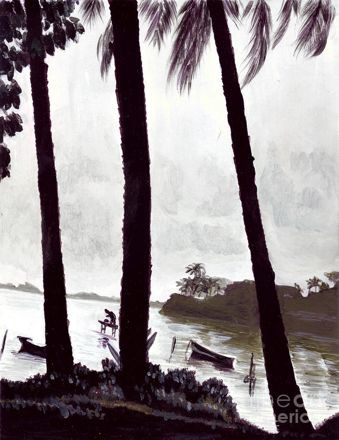 Kaneohe Bay From Bus Stop Painting