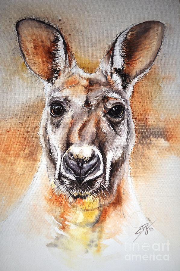 Kangaroo Big Red Painting