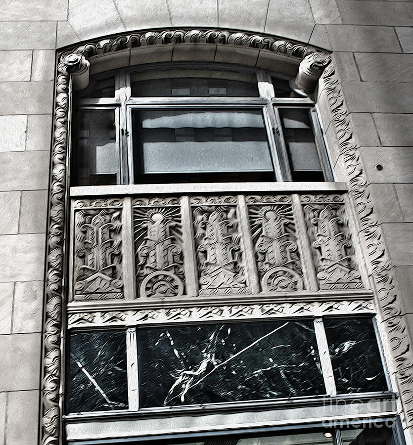 Architectural Detail Painting - Kansas City - 12 by Gregory Dyer