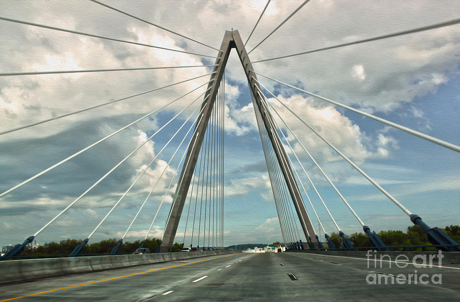 Architectural Detail Painting - Kansas City Bridge - 01 by Gregory Dyer