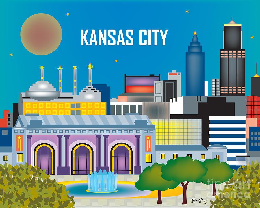Kansas City Digital Art - Kansas City by Karen Young
