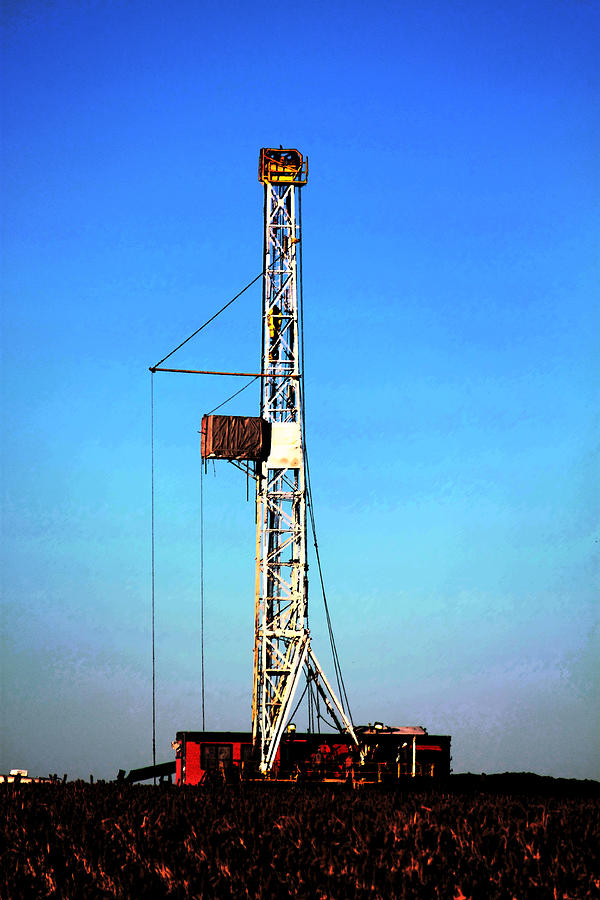 Rig Photograph - Kansas Gold by Jason Drake