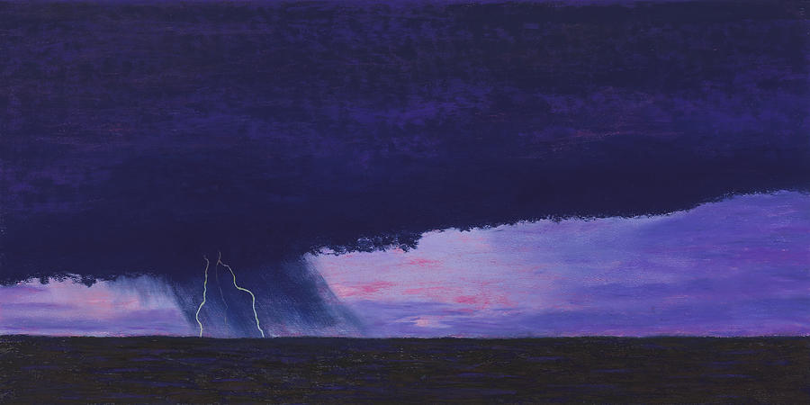 Kansas Lightning Storm Painting  - Kansas Lightning Storm Fine Art Print