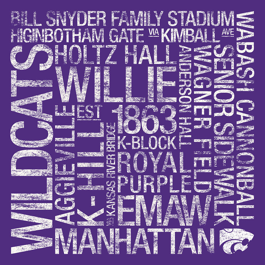 Kansas State College Colors Subway Art Photograph