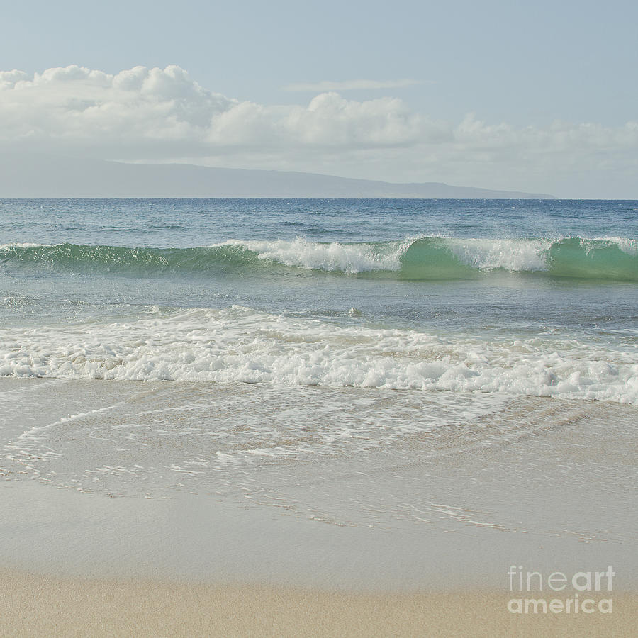 Kapalua Blue Surf Photograph  - Kapalua Blue Surf Fine Art Print