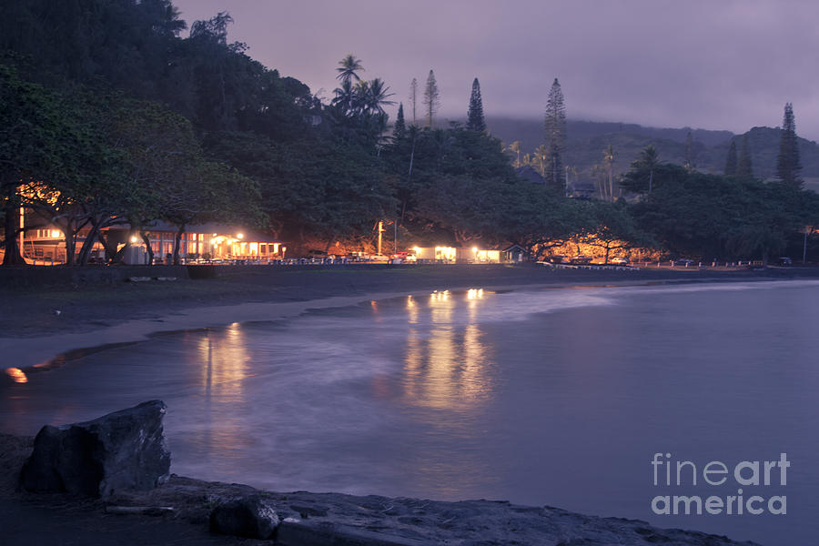 Kapueokahi - Hana Bay - Sunset Hana Maui Hawaii Photograph  - Kapueokahi - Hana Bay - Sunset Hana Maui Hawaii Fine Art Print