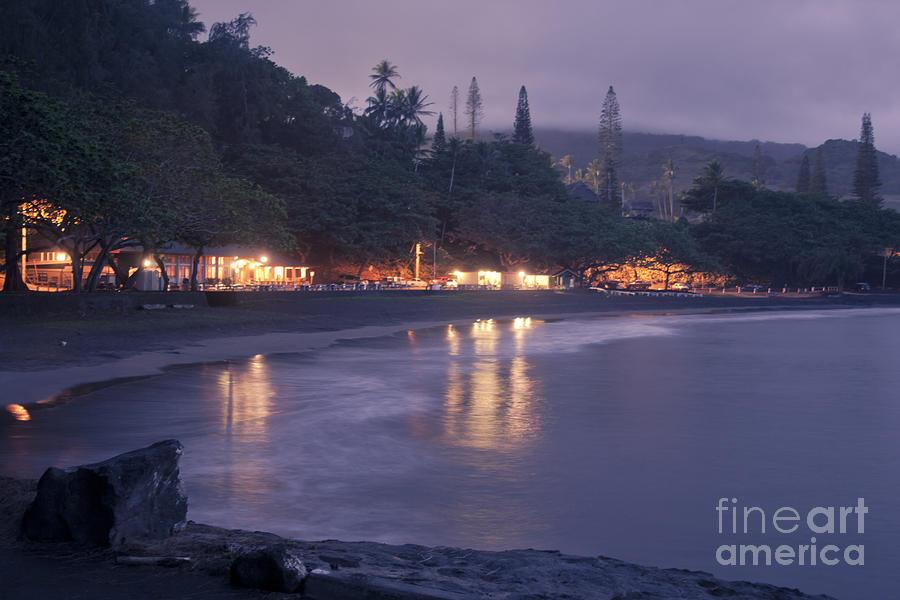 Aloha Photograph - Kapueokahi - Hana Bay - Sunset Hana Maui Hawaii by Sharon Mau