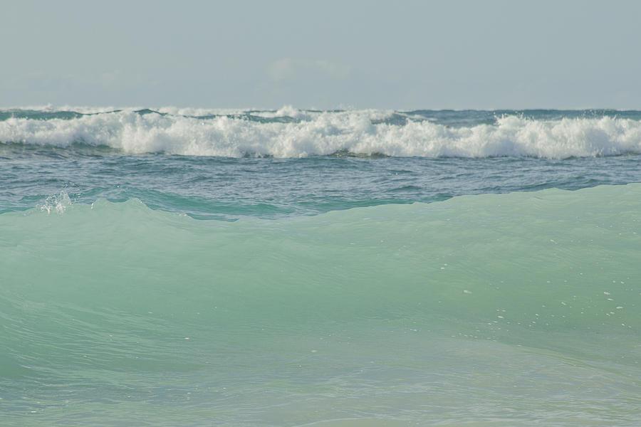 Kapukaulua Blue Surf Photograph