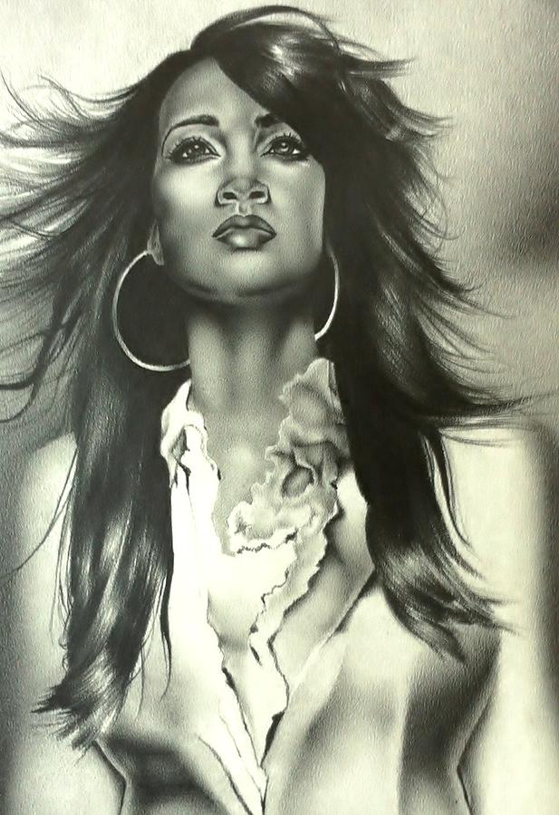 Drawings Drawing - Karen Clark Sheard In Second Chance by Carl Baker