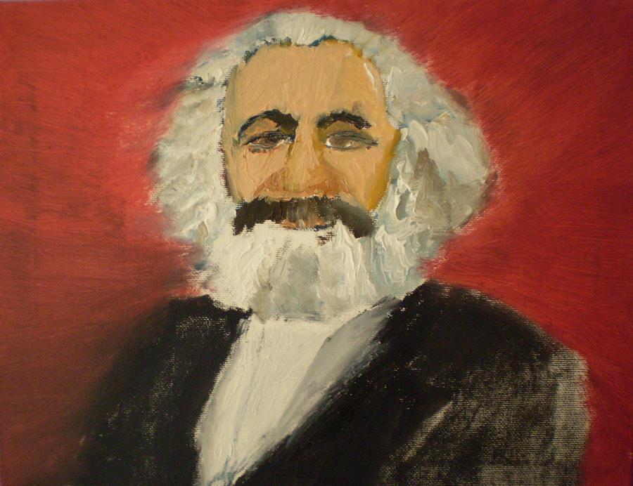Karl Marx Painting